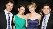 Kara Lindsay and Jeremy Jordan pose with their real-life love interests (and fellow actors!), Kevin Massey and Ashley Spencer, respectively.