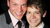 Fellow Mary Poppins alum Brian Letendre supports Andrew Keenan-Bolger on opening night.