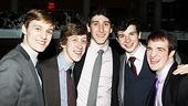 Newsies  Opening Night  Brendon Stimson  Ryan Breslin  Ben Fankhauser  Jack Scott  Evan Kasprzak