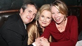 It's a Murphy Brown reunion! Candice Bergen gets cozy with Grant Shaud (who played Miles Silverberg) and show creator and executive producer Diane English.