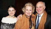 Candice Bergen is supported on opening night by her daughter Chloe Malle and husband Marshall Rose.