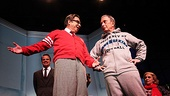 Bloomberg and How to Succeed Cast  Beau Bridges  Michael Bloomberg Beau Bridges  