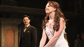 Supporting players Max von Essen and Rachel Potter take their opening night bows.