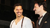 Stars Ricky Martin and Max von Essen share a smile during the curtain call.