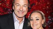 Alec Baldwin sips champagne with End of the Rainbow star Tracie Bennett.