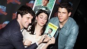 ...or do they? Michael Urie and Stephanie Rothenberg (Rosemary) get mischievous with Nick Jonas' Playbill portrait.