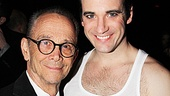 Joel Grey puts an arm around Colin Donnell, who wore his best Kit Kat Klub undershirt for the occasion.
