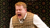 Oliver Chris as Stanley Stubbers, Tom Edden as Alfie and James Corden as Francis Henshall in One Man, Two Guvnors.