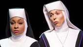 Raven-Symoné as Deloris Van Cartier and Carolee Carmello as Mother Superior in Sister Act.