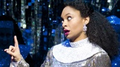 Carolee Carmello as Mother Superior and Raven-Symon as Deloris Van Cartier in Sister Act.