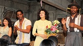 Daphne Rubin-Vega, Blair Underwood, Nicole Ari Parker and Wood Harris celebrate their arrival on Broadway.