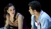 Morgan James, Telly Leung, Lindsay Mendez and Corbin Bleu as Jesus in Godspell.