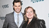 The Book of Mormon star Andrew Rannells and Gossip Girl bud Zuzanna Szadkowski take in The Lyons on Rannells' night off.