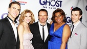 Heres one for the Ghost scrapbook! Director Matthew Warchus joins stars Richard Fleeshman, Caissie Levy, DaVine Joy Randolph and Bryce Pinkham. 
