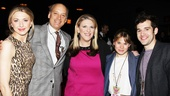 Easter Bonnet judges Nina Arianda, Frank Wood, Lisa Lampanelli, Celia Keenan-Bolger and Adam Chanler-Berat are wildly amused by the sketches and songs.