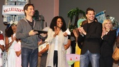 Current Broadway stars Eric McCormack, Audra McDonald and Ricky Martin applaud this year's winners.