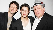 How to Succeed in Business Without Really Trying is represented by three of its stars: Michael Urie, Nick Jonas and Rob Bartlett.