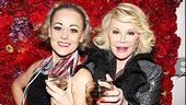 Joan Rivers shares a few of her favorite diva tips with End of the Rainbow star Tracie Bennett.