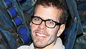 Aye Aye Captain! Perez Hilton feels like a boy again backstage at the Brooks Atkinson Theatre.