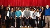 Nick Jonas gives the students an enthusiastic A-plus! See the Broadway star climb the corporate ladder in How to Succeed in Business Without Really Trying at the Al Hirschfeld Theatre. 