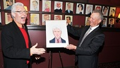 Priscilla Queen of the Desert star Tony Sheldon is overwhelmed as his Sardi's portrait is unveiled by Sardi's honcho Max Klimavicius.