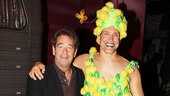 Huey Lewis just has to get a photo with Mike McGowan and his eye-popping costume.