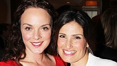 Broadway vets Melissa Errico and Idina Menzel come in close for a photo.