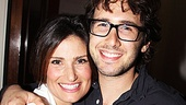 Idina Menzel is thrilled to have her former Chess concert co-star Josh Groban in attendance.