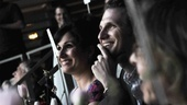 Favorite Replacement nominee Stephanie J. Block and her husband, actor Sebastian Arcelus, enjoy the show.