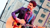 "Host Darren Criss sings a hilarious acoustic number about what he learned starring on Broadway ""for only three weeks."""