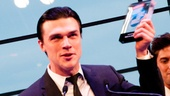 Death of a Salesman star Finn Wittrock proudly accepts the award for Favorite Play Revival.