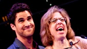 Darren Criss and Jackie Hoffman get cozy onstage as they present the award for Favorite New Musical.