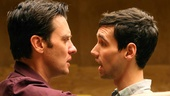 Jason Butler Harner as M and Cory Michael Smith as John in Cock.