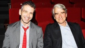 Director David Cromer and actor Sam Waterson try out the seats inside Lincoln Center's beautiful new theater. 