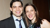 Drama League Distinguished Performance nominees (and Tony nominees!) Jeremy Jordan (Newsies) and Jessie Mueller (On a Clear Day) hang out at the luncheon.