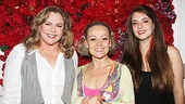 Kathleen Turner and her daughter Rachel Ann Weiss bookend Bennett for one final backstage shot. Check out the show celebrities can't stop talking about, End of the Rainbow.