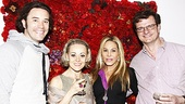 End of the Rainbow stars Tom Pelphrey, Tracie Bennett and Michael Cumpsty welcome Real Housewives of Beverly Hills star Adrienne Maloof. 