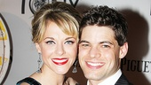 Rock of Ages star Ashley Spencer and her fiance, Newsies Jeremy Jordan, are a vision on Tony Night. What beautiful smiles!