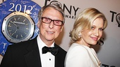 Mike Nichols picked up his ninth Tony tonight for directing Death of a Salesman and his wife, superstar journalist Diane Sawyer, is there by his side.  