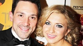 Hot, young winners Steve Kazee and Nina Arianda show off their shiny new Tony Awards.