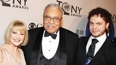 Best Actor in a Play nominee James Earl Jones (The Best Man) is flanked by his wife, Cecilia Hart, and their son, Flynn.