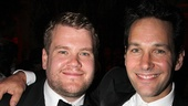Love this two-shot of Tony winner James Corden and Broadway-bound presenter Paul Rudd.