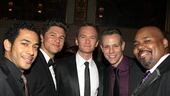 Justin Johnston  David Burtka  Neil Patrick Harris  Adam Pascal  James Patrick Iglehart