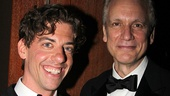 Christian Borle proposes a toast to Rick Elice, who wrote the stage adaptation of Peter and the Starcatcher.