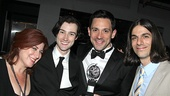 Newly anointed Best Actor Steve Kazee is flanked by Once co-stars Anne L. Nathan, Will Connolly and Lucas Papaelias.