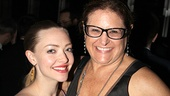 Les Miz film star Amanda Seyfried enjoys the party with Once vocal supervisor Liz Caplan.