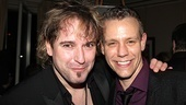 Tony nominated Porgy and Bess orchestrator Christopher Jahnke hangs out at the after party with Memphis star Adam Pascal.