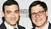 Morgan Spector poses on the red carpet with his Harvey dressing room buddy, Rich Sommer.