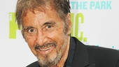 Let's begin our coverage of the Public Theater's Central Park gala with the arrival of the evening's honored guest: Al Pacino!