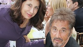 Producer Paula Wagner enjoys a private moment with guest of honor Al Pacino.